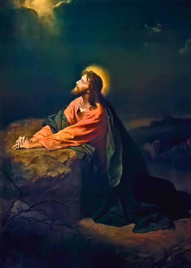 heinrich hofmann- Christ In Garden Of Gethsemane (1890)
