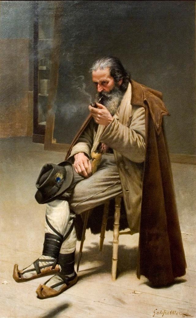 Francesc Galofre Oller - Retrato de un hombre con pipa.