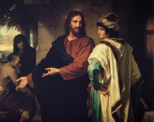 Heinrich Hofmann_Cristo y el Joven rico (1889)