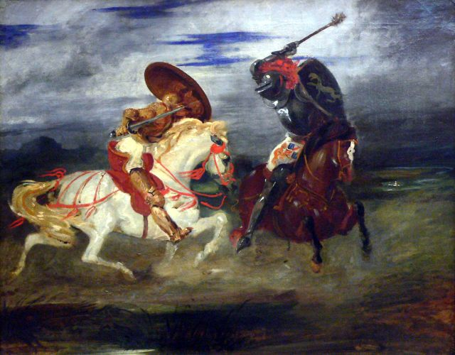 Eugene Delacroix - Duelo de Caballeros, 1824).