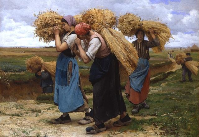 Julien_dupre__Cargadoras de heno, 1880 Galerías Rehs, Inc., Nueva Yorkglaneuses_wm_wiki