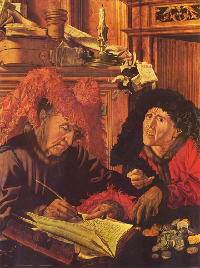 Marinus_Claesz._van_Reymerswaele_Los dos prestamistas (ca. 1540,