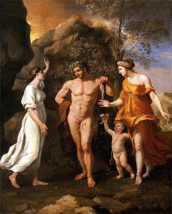 Nicolas Poussin - La elección de Hércules