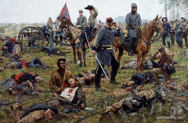 Bradley Schmehl - Civil War Painting about the dark side of war